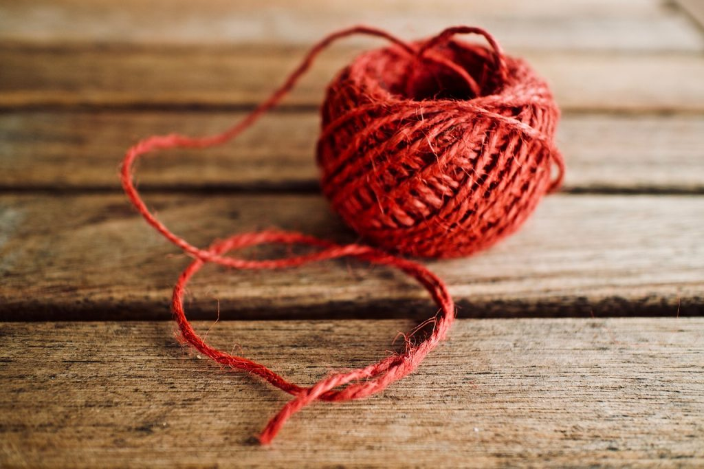 filo di lana per annaffiare piante